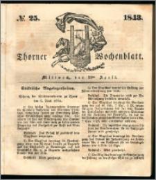 Thorner Wochenblatt 1843, No. 25 + Beilage