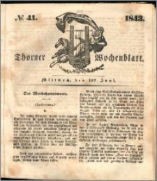 Thorner Wochenblatt 1843, No. 41 + Beilage