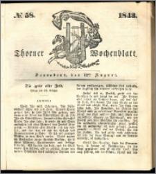 Thorner Wochenblatt 1843, No. 58 + Beilage, Thorner wöchentliche Beitung