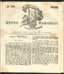 Thorner Wochenblatt 1843, No. 90 + Beilage, Thorner wöchentliche Beitung