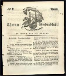 Thorner Wochenblatt 1844, No. 7 + Beilage