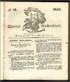 Thorner Wochenblatt 1844, No. 12 + Beilage, Thorner wöchentliche Beitung
