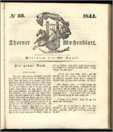 Thorner Wochenblatt 1844, No. 33 + Beilage