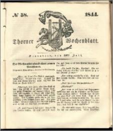 Thorner Wochenblatt 1844, No. 58 + Beilage, Thorner wöchentliche Beitung