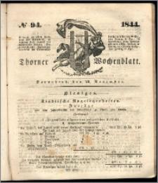 Thorner Wochenblatt 1844, No. 94 + Beilage, Thorner wöchentliche Beitung