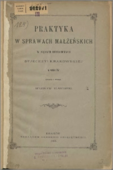Praktyka w sprawach małżeńskich w sądach duchownych w wieku XV