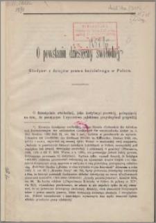 O powstaniu dziesięciny swobodnéj : studyum z dziejów prawa kościelnego w Polsce