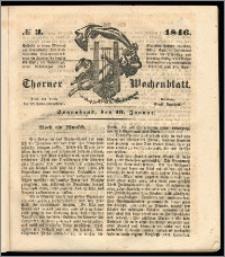 Thorner Wochenblatt 1846, No. 3 + Beilage