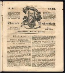 Thorner Wochenblatt 1846, No. 5 + Beilage