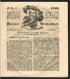Thorner Wochenblatt 1846, No. 7 + Beilage