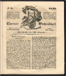 Thorner Wochenblatt 1846, No. 8 + Beilage