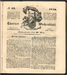 Thorner Wochenblatt 1846, No. 43 + Beilage, Zweite Beilage