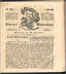Thorner Wochenblatt 1846, No. 76 + Beilage