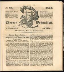 Thorner Wochenblatt 1846, No. 88 + Beilage