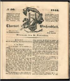 Thorner Wochenblatt 1846, No. 90 + Beilage