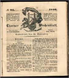 Thorner Wochenblatt 1846, No. 91 + Beilage