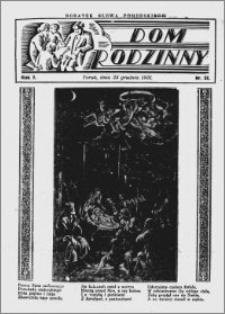 Dom Rodzinny : dodatek tygodniowy Słowa Pomorskiego, 1931.12.25 R. 7 nr 52