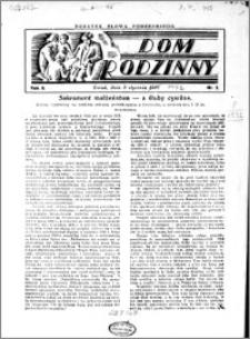 Dom Rodzinny : dodatek tygodniowy Słowa Pomorskiego, 1932.01.03 R. 8 nr 1