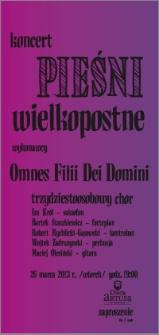 Koncert Pieśni wielkopostne : 26 marca 2013 r. : zaproszenie dla 2 osób
