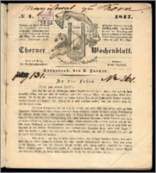 Thorner Wochenblatt 1847, No. 1 + Beilage
