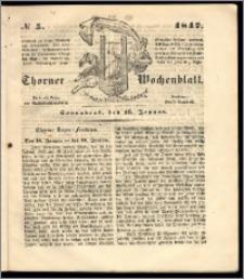 Thorner Wochenblatt 1847, No. 5 + Beilage