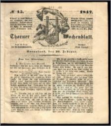 Thorner Wochenblatt 1847, No. 15 + Beilage