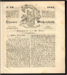 Thorner Wochenblatt 1847, No. 23 + Beilage