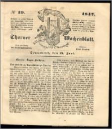 Thorner Wochenblatt 1847, No. 49 + Beilage