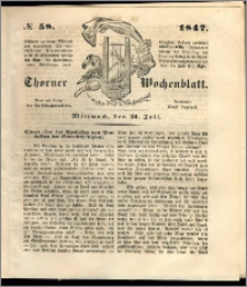 Thorner Wochenblatt 1847, No. 58 + Beilage