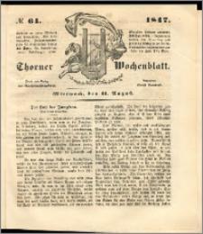 Thorner Wochenblatt 1847, No. 64 + Beilage