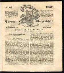 Thorner Wochenblatt 1847, No. 67 + Beilage