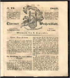 Thorner Wochenblatt 1847, No. 72 + Beilage