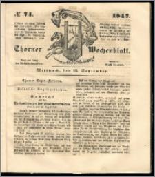 Thorner Wochenblatt 1847, No. 74 + Beilage