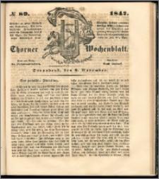 Thorner Wochenblatt 1847, No. 89 + Beilage