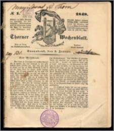 Thorner Wochenblatt 1848, No. 1 + Beilage