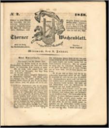 Thorner Wochenblatt 1848, No. 2 + Beilage, Zweite Beilage