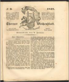 Thorner Wochenblatt 1848, No. 3 + Beilage