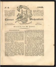 Thorner Wochenblatt 1848, No. 4 + Beilage