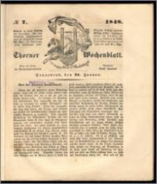 Thorner Wochenblatt 1848, No. 7 + Beilage