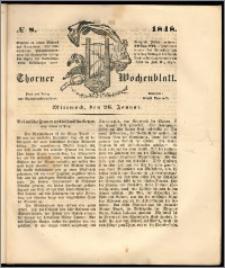 Thorner Wochenblatt 1848, No. 8 + Beilage