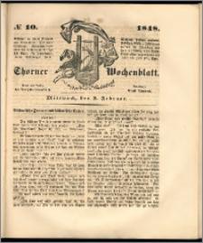 Thorner Wochenblatt 1848, No. 10 + Beilage