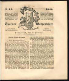 Thorner Wochenblatt 1848, No. 11 + Beilage