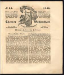 Thorner Wochenblatt 1848, No. 14 + Beilage