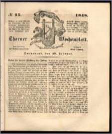 Thorner Wochenblatt 1848, No. 15 + Beilage
