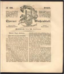 Thorner Wochenblatt 1848, No. 16 + Beilage