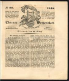 Thorner Wochenblatt 1848, No. 22 + Beilage