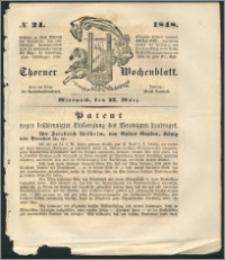 Thorner Wochenblatt 1848, No. 24 + Beilage