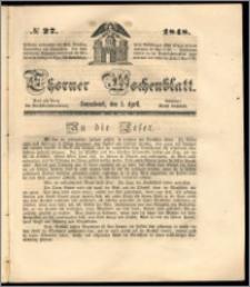 Thorner Wochenblatt 1848, No. 27 + Beilage