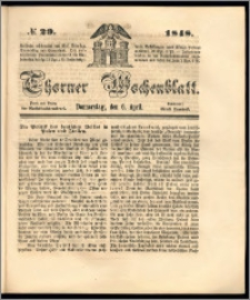 Thorner Wochenblatt 1848, No. 29 + Beilage