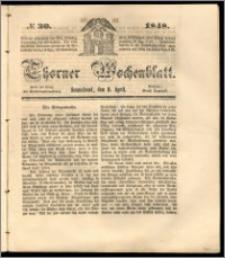 Thorner Wochenblatt 1848, No. 30 + Beilage